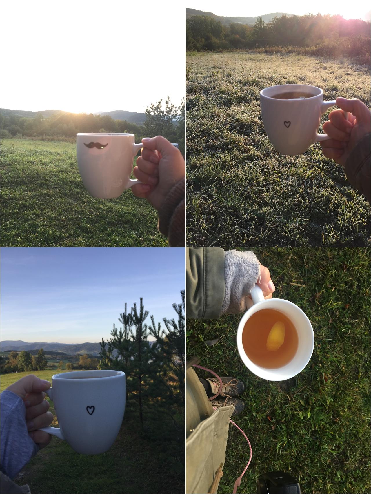 jesień wgórach, sesje fotogaficzne jesienne, kolory jesieni, herbata wgorach