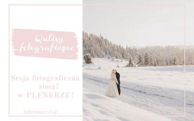 sesja fotograficzna zimą